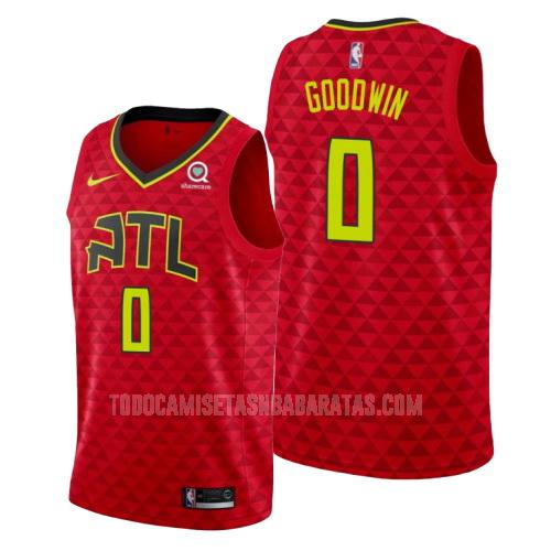 camiseta atlanta hawks brandon goodwin 0 rojo statement hombres