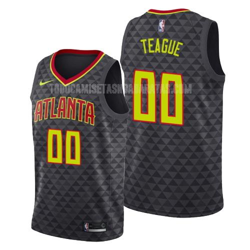 camiseta atlanta hawks jeff teague 0 negro icon hombres 2019-20