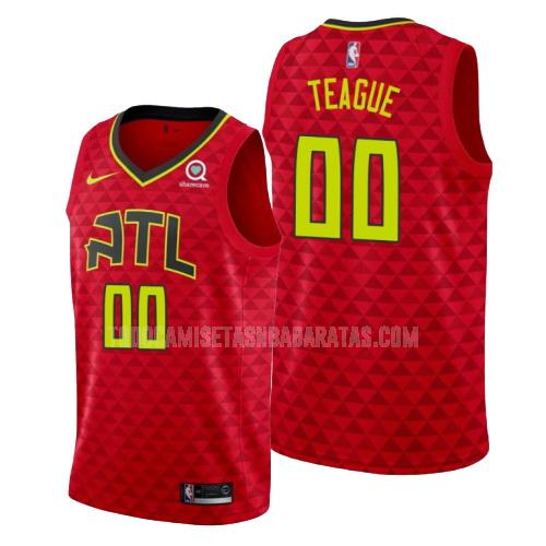 camiseta atlanta hawks jeff teague 0 rojo statement hombres 2019-20