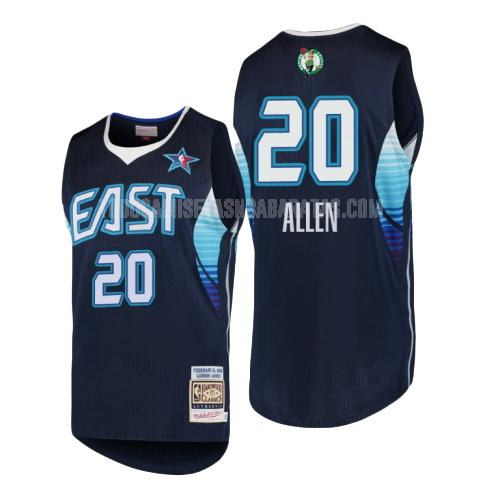 camiseta boston celtics ray allen 20 azul marino nba all-star hombres 2009