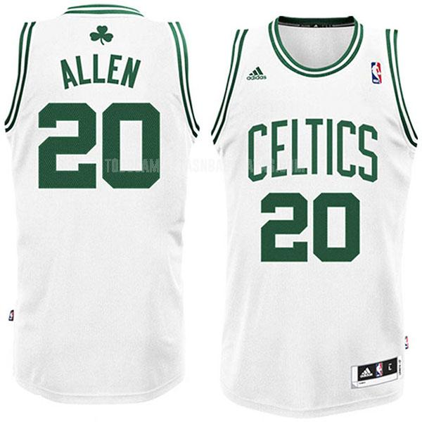 camiseta boston celtics ray allen 20 blanco swingman hombres