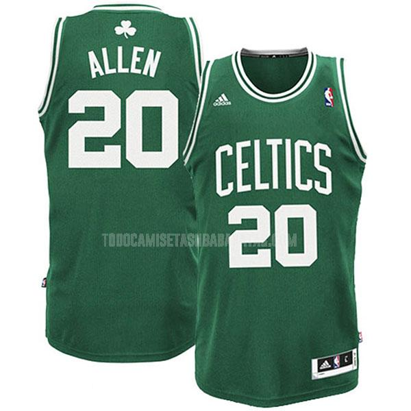 camiseta boston celtics ray allen 20 verde swingman hombres