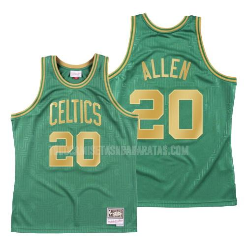 camiseta boston celtics ray allen 20 verde throwback hombres 2020