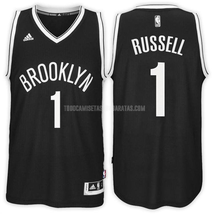 camiseta brooklyn nets d'angelo russell 1 negro road hombres