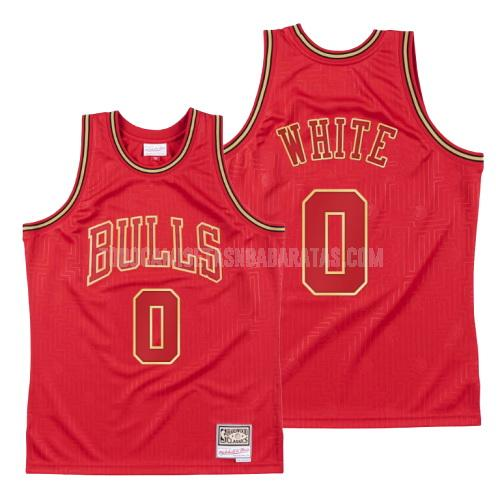 camiseta chicago bulls coby white 0 rojo blanco throwback hombres 2020