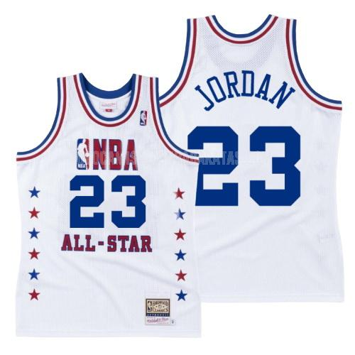 camiseta chicago bulls michael jordan 23 blanco nba all-star hombres 1988