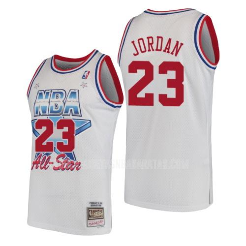 camiseta chicago bulls michael jordan 23 blanco nba all-star hombres 1991