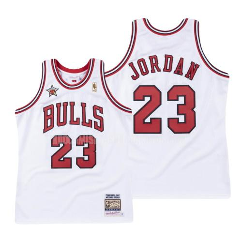 camiseta chicago bulls michael jordan 23 blanco nba all-star hombres 1997-98