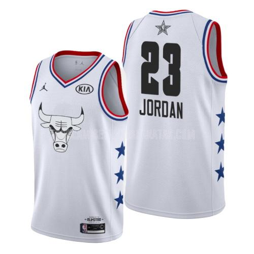 camiseta chicago bulls michael jordan 23 blanco nba all-star hombres 2019