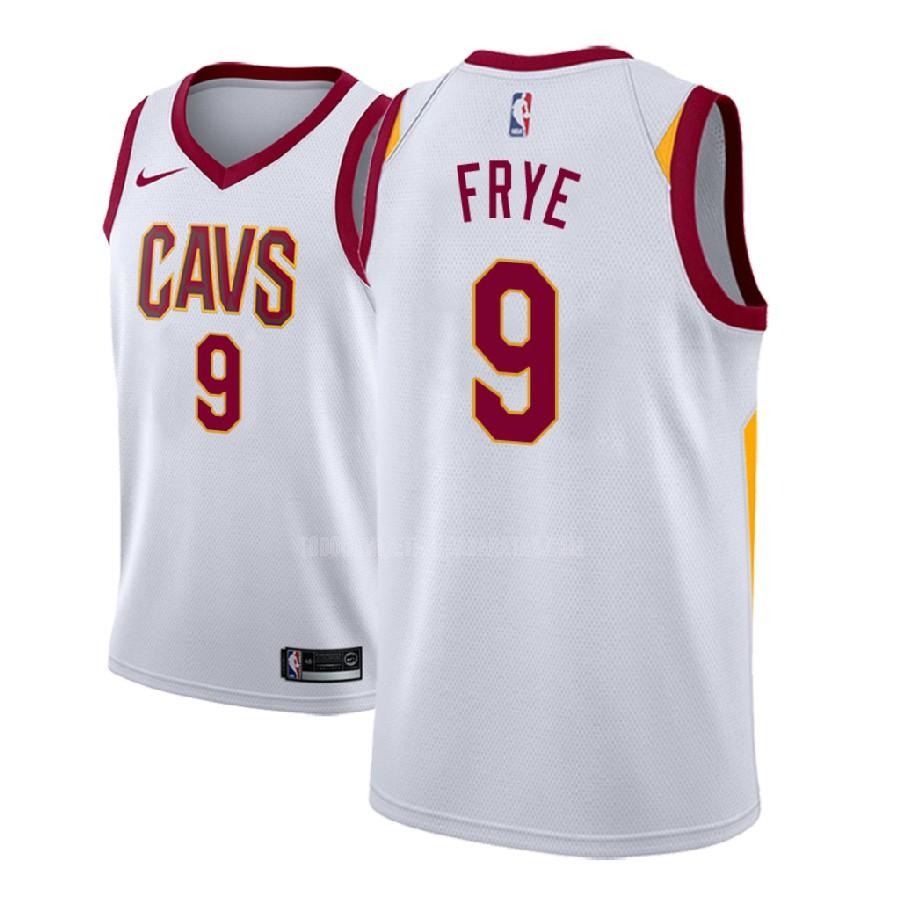 camiseta cleveland cavaliers channing frye 9 blanco association hombres 2018-19