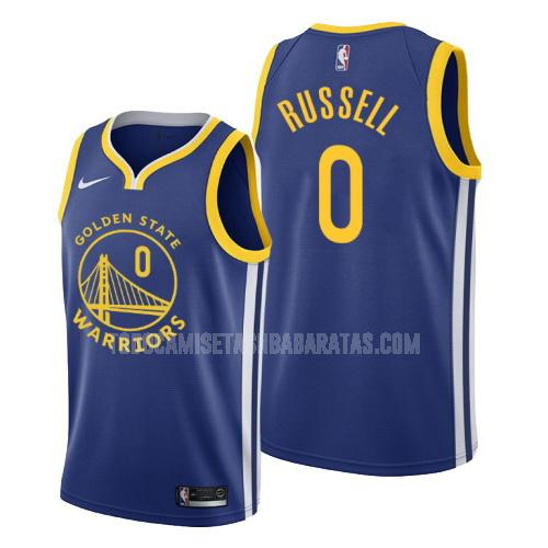 camiseta golden state warriors d'angelo russell 0 azul icon hombres 2019-20