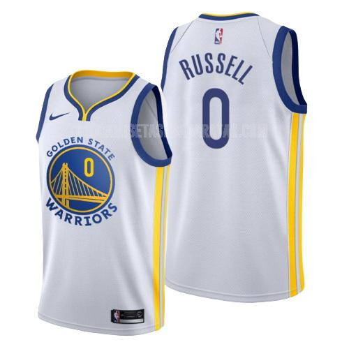 camiseta golden state warriors d'angelo russell 0 blanco association hombres 2019-20
