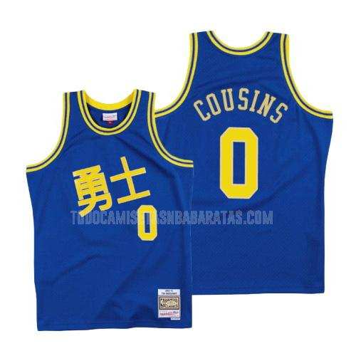 camiseta golden state warriors demarcus cousins 0 azul año nuevo chino hombres