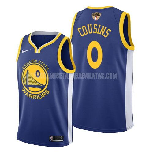 camiseta golden state warriors demarcus cousins 0 azul icon hombres 2019