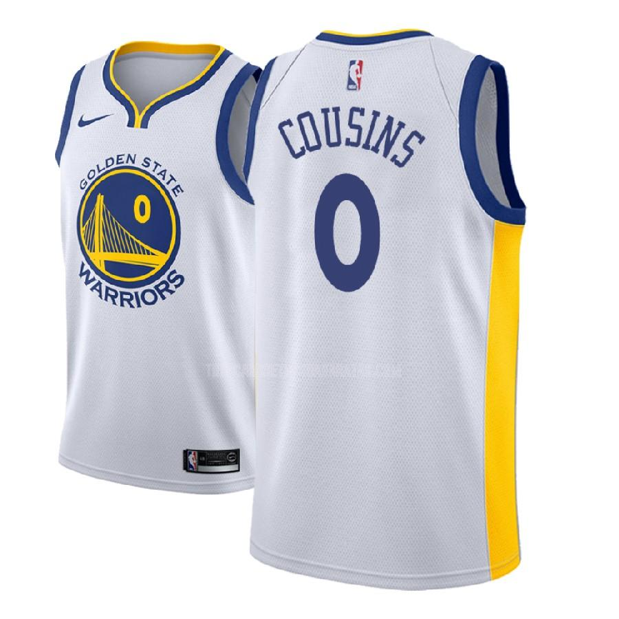 camiseta golden state warriors demarcus cousins 0 blanco association hombres 2018-19