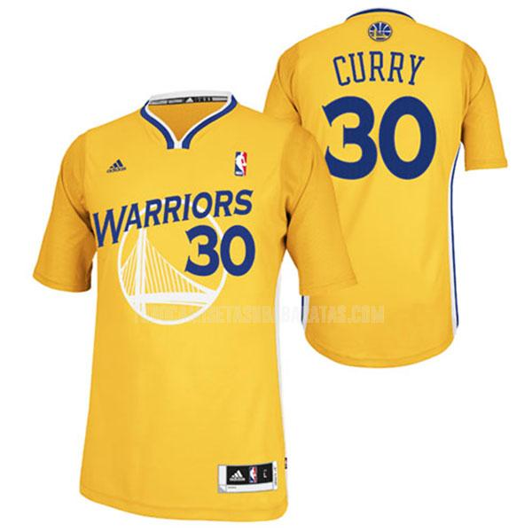 camiseta golden state warriors stephen curry 30 amarillo alterno hombres