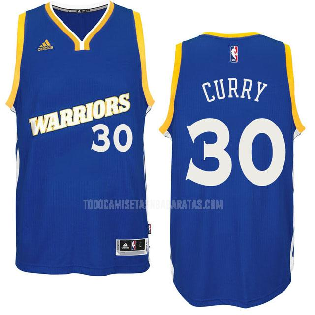 camiseta golden state warriors stephen curry 30 azul alterno hombres 2016-17