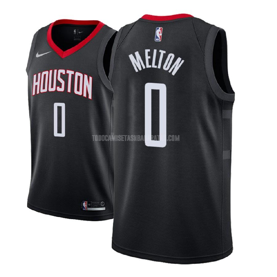 camiseta houston rockets de'anthony melton 0 negro statement hombres 2018 nba draft