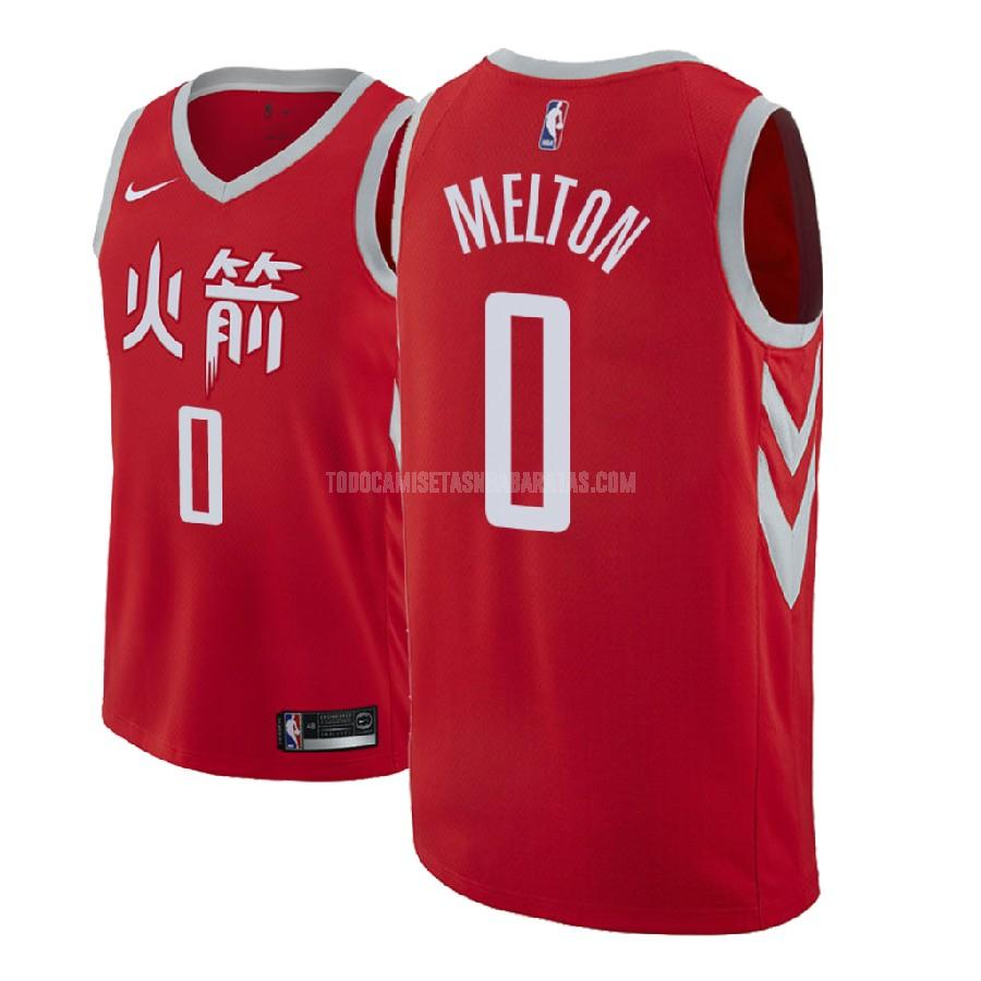 camiseta houston rockets de'anthony melton 0 rojo edición city hombres 2018 nba draft