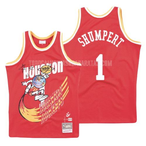 camiseta houston rockets iman shumpert 1 rojo hardwood classics hombres