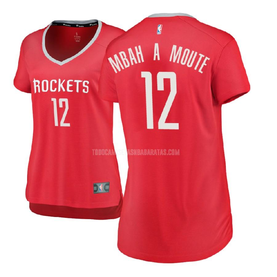 camiseta houston rockets luc mbah a moute 12 rojo icon mujer 2017-18