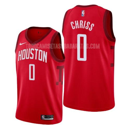 camiseta houston rockets marquese chriss 0 rojo edición earned hombres