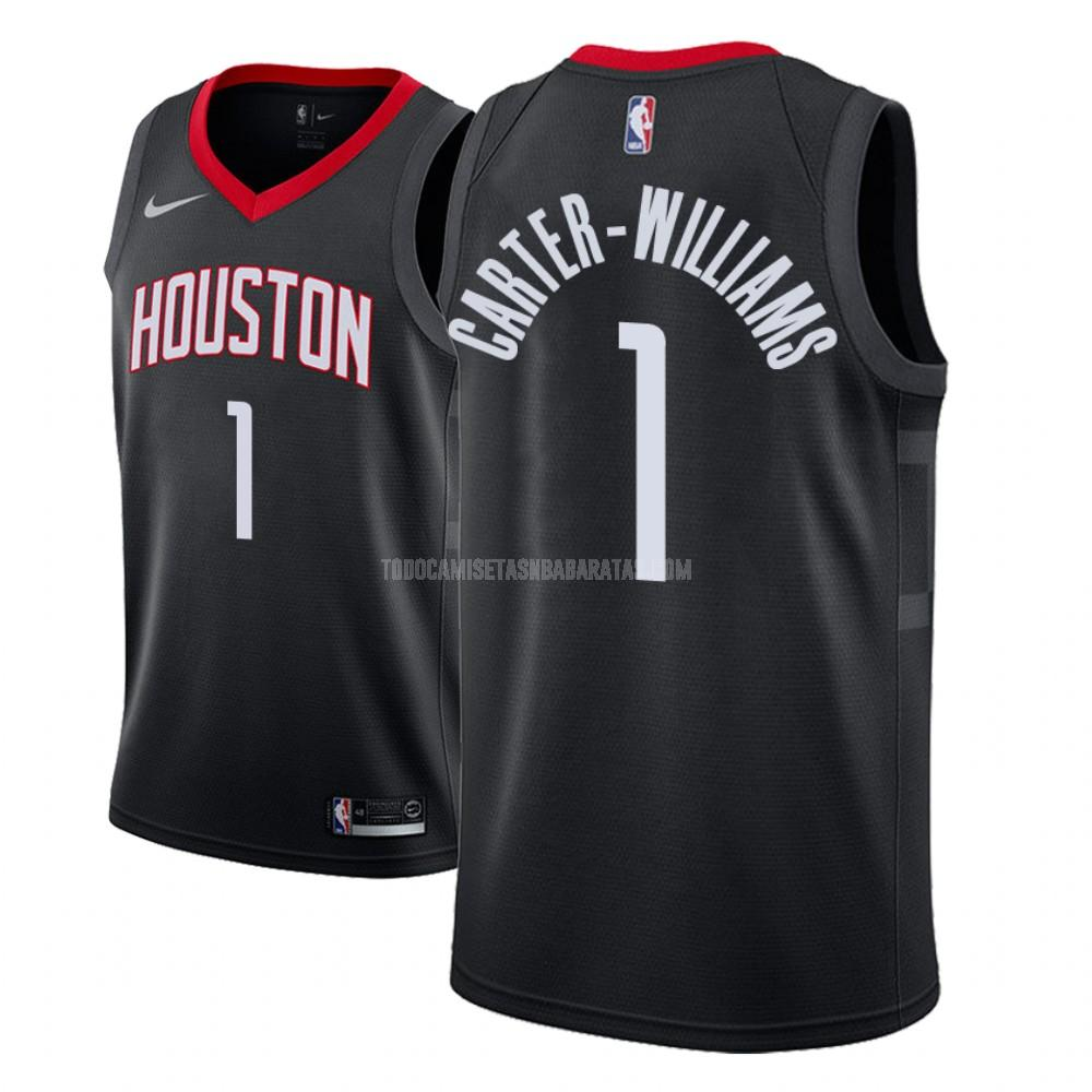 camiseta houston rockets michael carter 1 negro statement hombres 2018-19