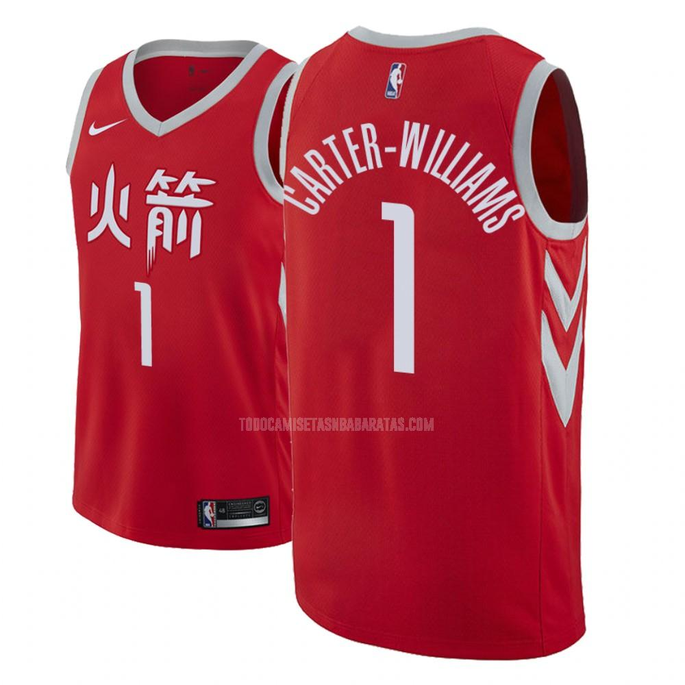 camiseta houston rockets michael carter 1 rojo edición city hombres 2018-19
