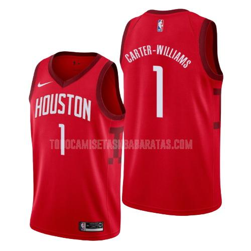 camiseta houston rockets michael carter 1 rojo edición earned hombres