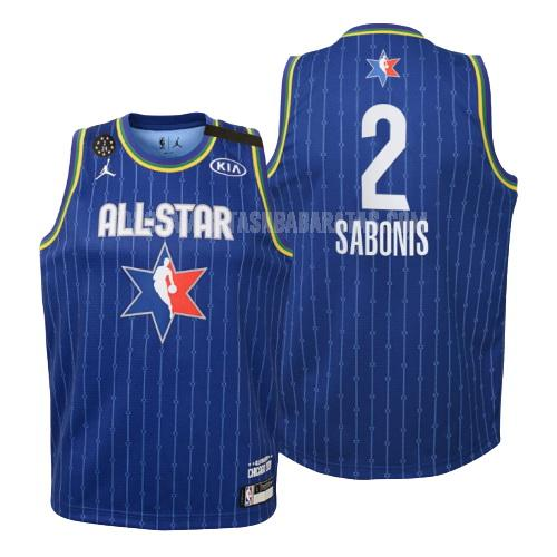 camiseta indiana pacers domantas sabonis 2 azul nba all-star niños 2020