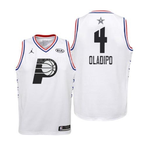 camiseta indiana pacers victor oladipo 4 blanco nba all-star niños 2019