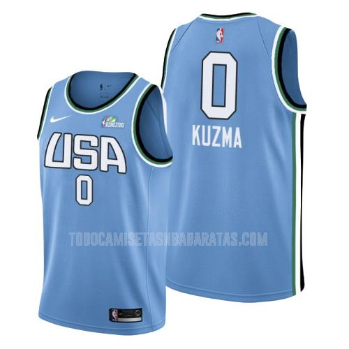 camiseta los angeles lakers kyle kuzma 0 azul rising star hombres 2019