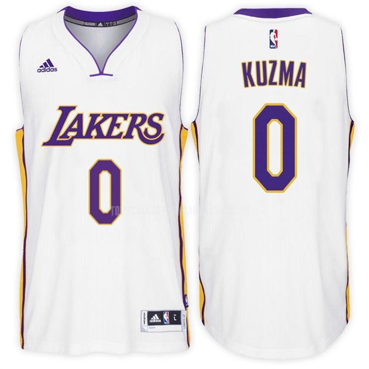 camiseta los angeles lakers kyle kuzma 0 blanco alterno hombres