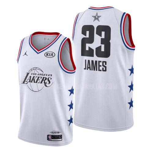 camiseta los angeles lakers lebron james 23 blanco nba all-star hombres 2019