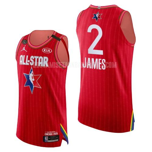 camiseta los angeles lakers lebron james 2 rojo nba all-star hombres 2020