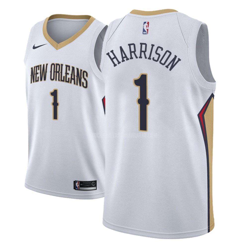 camiseta new orleans pelicans andrew harrison 1 blanco association hombres