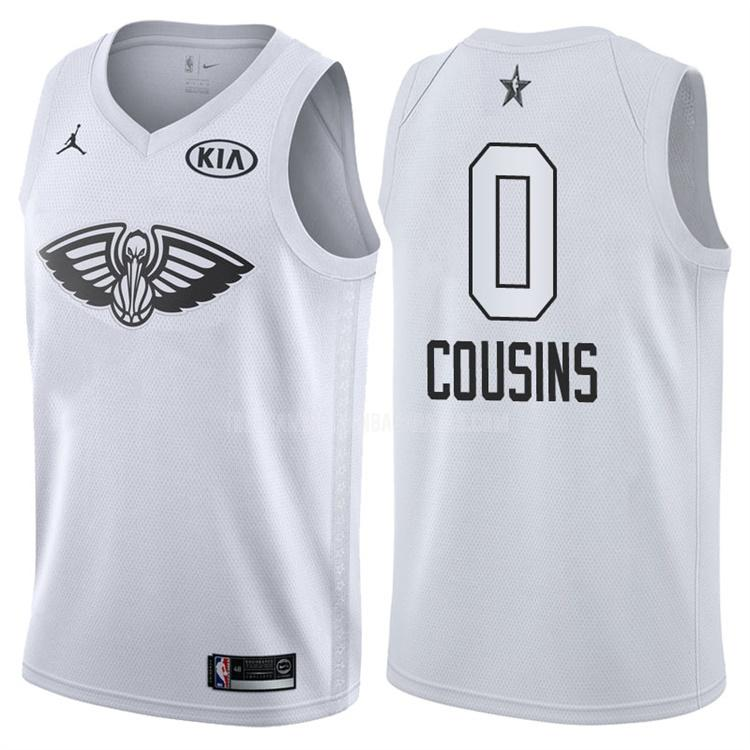 camiseta new orleans pelicans demarcus cousins 0 negro nba all-star hombres 2018