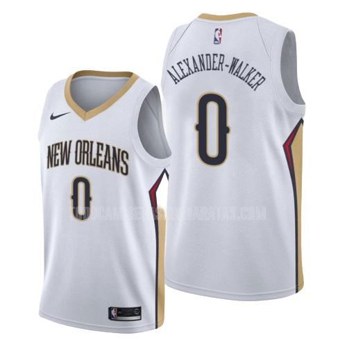 camiseta new orleans pelicans nickeil alexander-walker 0 blanco association hombres