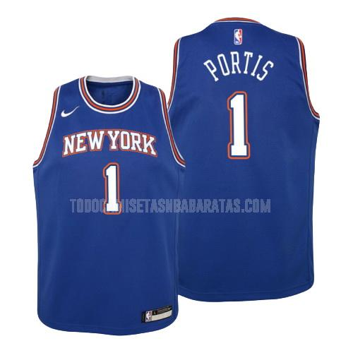 camiseta new york knicks bobby portis 1 azul statement niños