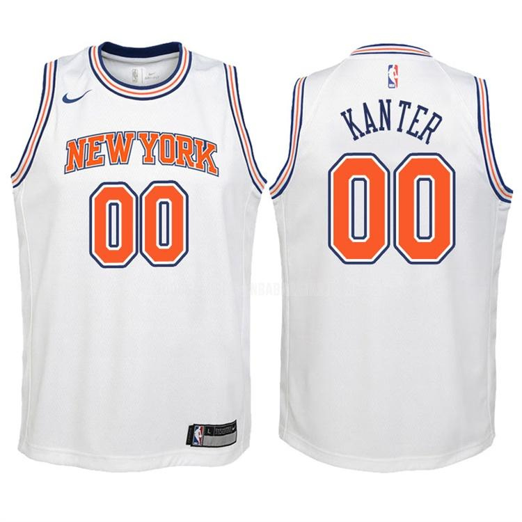 camiseta new york knicks enes kanter 0 blanco statement niños 2017-18
