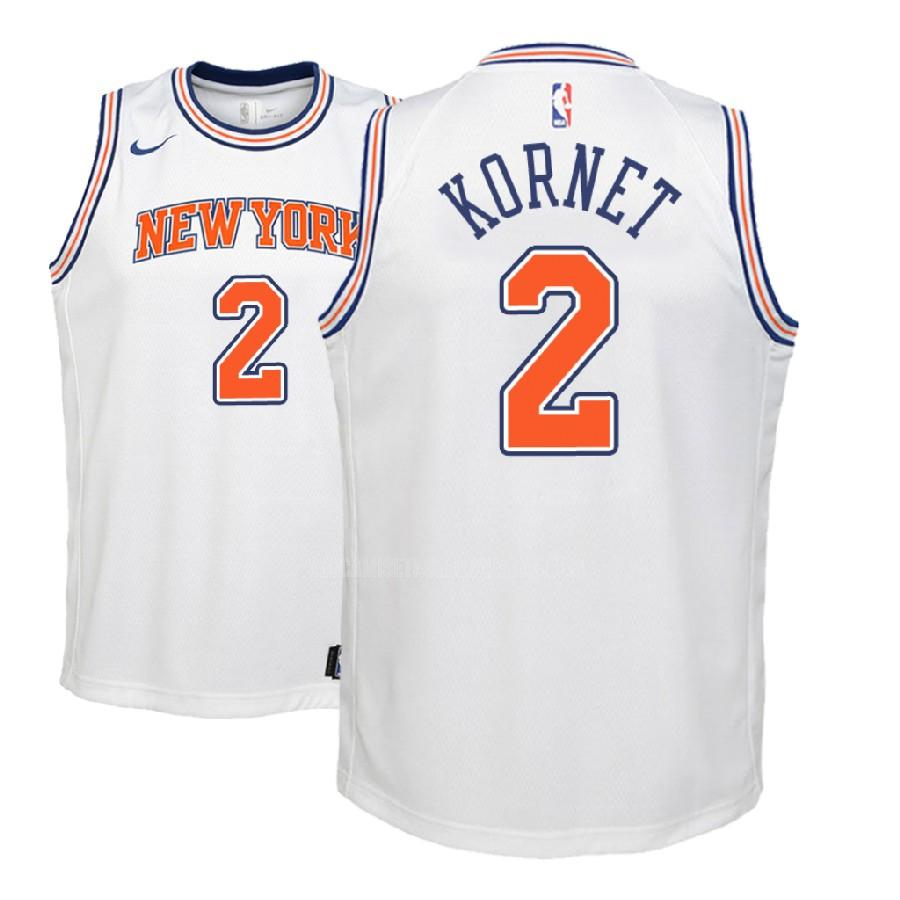 camiseta new york knicks luke kornet 2 blanco statement niños 2018-19