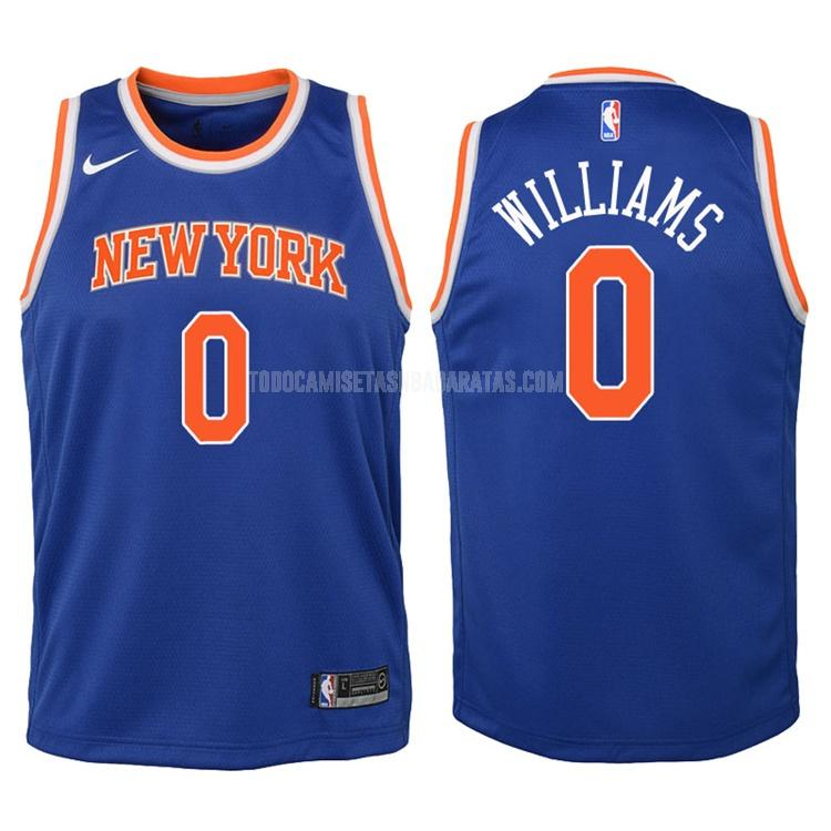 camiseta new york knicks troy williams 0 azul icon niños 2017-18