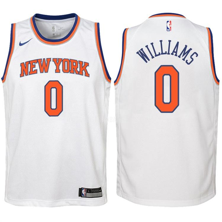 camiseta new york knicks troy williams 0 blanco association niños 2017-18
