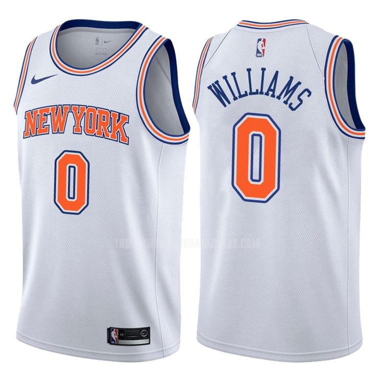 camiseta new york knicks troy williams 0 blanco statement hombres