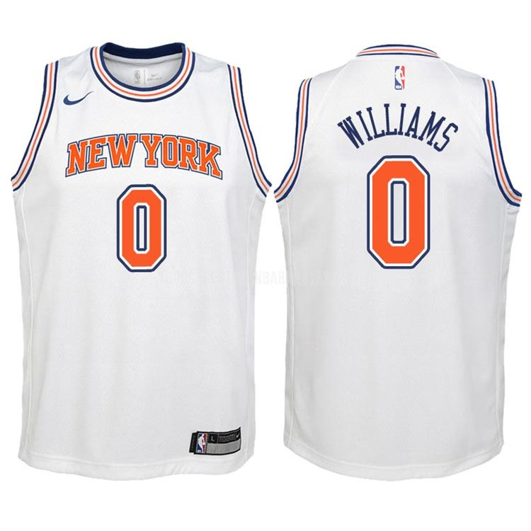 camiseta new york knicks troy williams 0 blanco statement niños 2017-18
