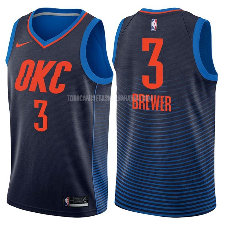 camiseta oklahoma city thunder corey brewer 3 azul marino statement hombres
