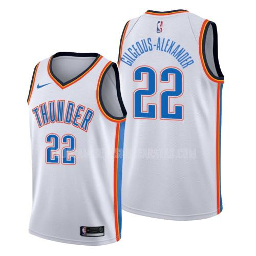 camiseta oklahoma city thunder shai gilgeous-alexander 2 blanco association hombres