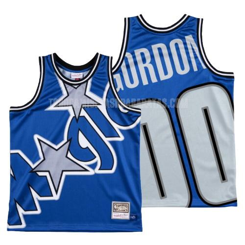 camiseta orlando magic aaron gordon 0 azul big face hombres