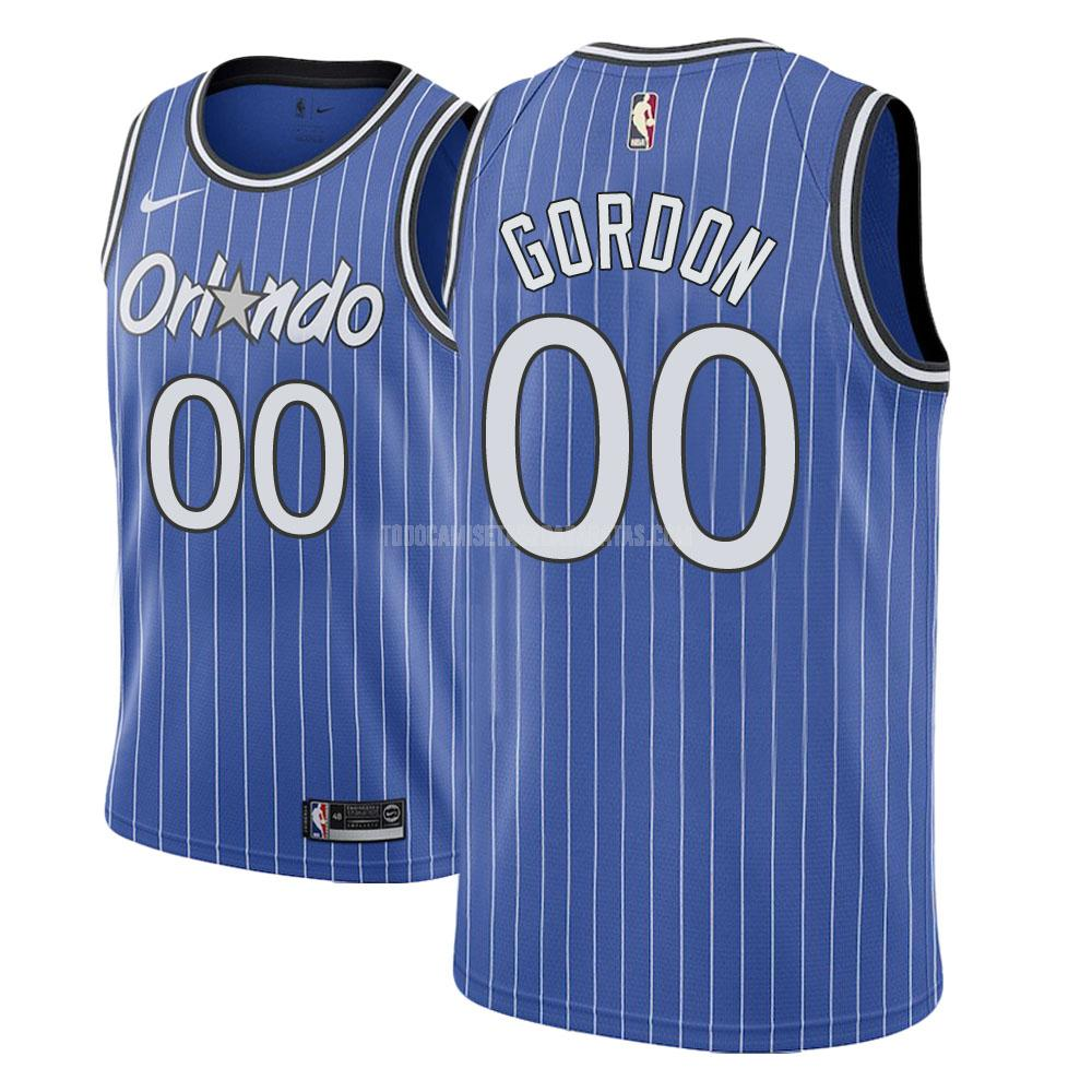 camiseta orlando magic aaron gordon 0 azul hardwood classic hombres
