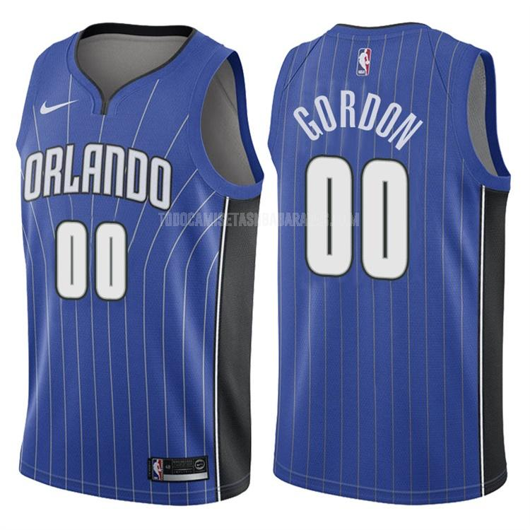 camiseta orlando magic aaron gordon 0 azul icon hombres 2017-18